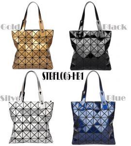Cheap WHOLESALES fashion handbag Geometric Ladies shopper Bag Glossy design Women Tote Shoulder Bag customized bag supplier for sale