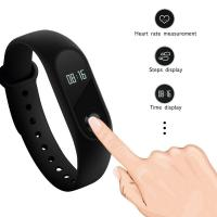 Cheap OLED Smart Bracelet Sport Watch Silica Gel Band For Social Sharing Wechat for sale