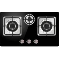 China NG/LPG Home Gas Stove Pulse Ignition Stainless Steel Surface Material on sale