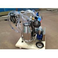 Vacuum Pump Type Dairy Plant Machinery for Cows and Goats, two buckets mobile milker