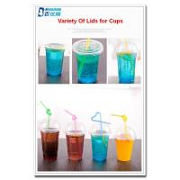 Cheap personalized plastic cups with straws for sale