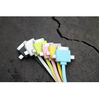 Cheap Colorful 3 in 1 Universal Cell Phone USB Cable 30 Pin For IPhone 4 Charging for sale