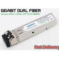 Cheap 1.25G 850nm Fp 550m Lc Mmf Small Form Factor Pluggable Transceiver Fcc Compliant Sfp for sale