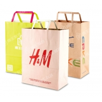 Cheap flat handle paper bags for sale