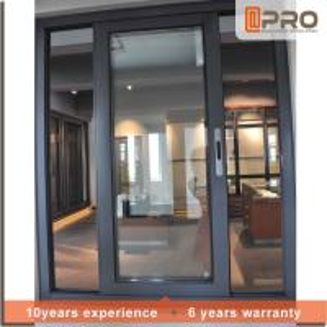 Cheap Dark Grey Sliding Office Window , Fly Screen Aluminium Sliding Glass Windows for sale