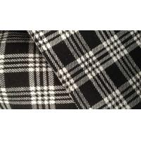 China Silk Bamboo Fiber Cloth Plaid Jacquard Knit Fabric For Kids Clothes / Baby Wear on sale