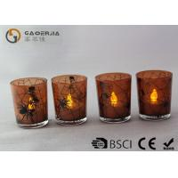 Lovely Personalized Flameless Candles With Flickering Flame Set Of 4