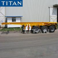 Cheap TITAN 20ft Container Skeleton Trailer Chassis with Twist lock for sale