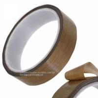 Cheap Masking Sealing PTFE Glass Cloth Tape 0.08MM Thickness High Temperature Resistant for sale
