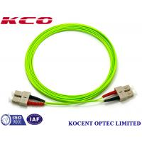 Buy cheap SC OM5 100G Duplex Simplex Fiber Optic Patch Cord PVC/LSZH Cover Long Lifespan from wholesalers
