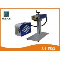 Cheap Metal Alloys Handy 20 Watt Portable Laser Marking Machine With Rotary for sale