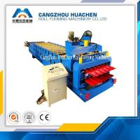 China Color Sheet Double Layer Roll Forming Machine Double Deck Roll Forming Equipment on sale