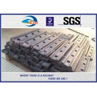 Quality 4 Holes BS80A Railway Fish Plate Rail Joint Bars steel fish plates With Plain wholesale