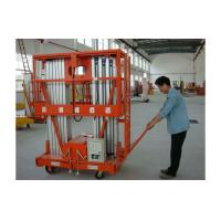 Cheap 2 person Double Mast Aerial Work Platform Elevated Aluminum Work Platform CE Certificate for sale