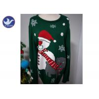 Cheap Christmas Snowman knit Pullover Sweater For Adult And Children for sale