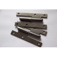 China Uppolished Bright Light Duty 2.0mm H Cabinet Hinges Without Screws on sale