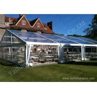 Cheap 15M By 25m Clear Fabric Top Outdoor Party Tents With Aluminum Main Profile wholesale