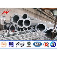 Cheap 45-100FT Electric Galvanised Steel Pole 2000kg Load One Section Design for sale