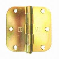 Cheap Butt Hinge with Rounded Corners and Loose Brass Pin for sale