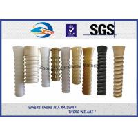 Cheap High Quality Railway Plastic Dowel for Railway Screw Spike for SKL 14 Fastening system at HDPE or PA66 for sale