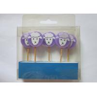 Cheap Purple Birthday Gift Wax Pick Candles , Lovely Sheep Shape Paraffin Candle for sale