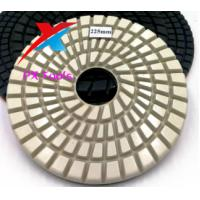 China PX 225mm  grade B  white diamond  grinding pads for polishing marble,granite and concrete. on sale