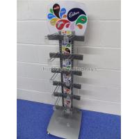 Cheap Freestanding Metal Chocolate Sweet Display Stand 12 Hooks For Snacks Store for sale