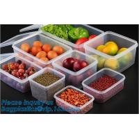 China Glossy high quality acrylic storage box,Plastic Round Shape Clear Fresh Box,Food storage container clear plastic packing on sale