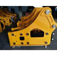 China Road Construction Excavator Drill Attachment Yellow Color Strong Bearing Capacity on sale