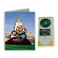 Cheap Christmas glossy varnish 120gms Musical Greetings Cards with 40mm speaker  for gift  for sale