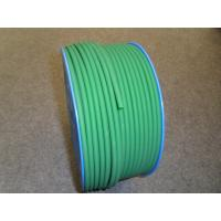 Cheap Green PU Polyurethane Round Belt anti static with 3mm - 8mm Textile for sale