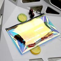 Cheap Holographic Clear PVC Cosmetic Makeup Bag Holographic Lady Travel Storage Bag for sale