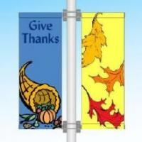 Cheap Customizable Street Pole Banners PVC Vinyl Banners With Double Sided Printing for sale