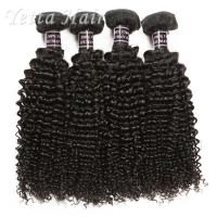 Cheap Kinky Curl Indian Human Hair Extensions Natural Black Without Chemical for sale