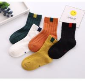 China Customized Logo Short Dress Socks , Eco Friendly Girls Cotton Dress Socks on sale