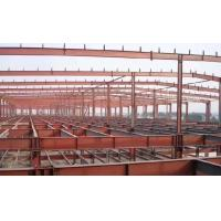 Buy cheap Red Construction Steel Structure ,High Rise Garage Frame for Industrial Building from wholesalers