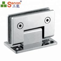 Cheap SS316 Glass Shower Door Hinges 90 Degree Wall To Glass Double Side Bathroom Clamp for sale