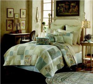Cheap Duvet Reactive Printed Quilt Bedding Set , Queen Size Comforter Set for sale