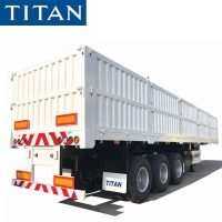 Cheap China side wall semi trailer with high sideboard for sale in Nigeria for sale