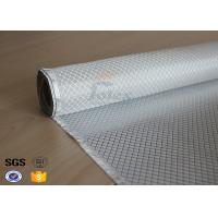 China Flame Retardant Fiberglass Fabric Silver Plated Fabric Double Sides 230g on sale