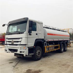 China HOWO 6×4 20CBM Refueling Oil Tanker Truck Optional Color 336HP 15001 - 30000L on sale