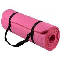 Cheap Comfortable Odorless Nbr Exercise Mat , Colorful Yoga Mat And Strap 800g-1900g for sale