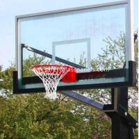 Cheap Ultra Clear 15mm Outdoor Tempered Glass Composite Basketball Backboard for sale