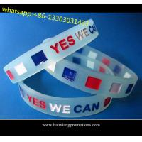 Cheap Custom embossed/imprinted/printed logo Silicone Wristband,silicone bracelet with stone for sale
