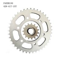 Cheap YAMAHA FAZER150 Motorcycle Chain And Sprocket 41T-15T 1045 Steel Galvanized for sale