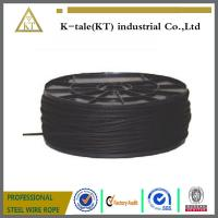 Cheap Wholesale black steel wire rope 7x19 aircraft cable for stage for sale