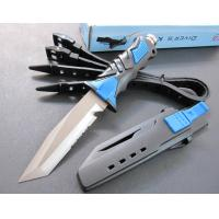 Cheap diving knife (blue color) fixed blade knife for sale