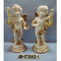 Cheap Beautiful Polyresin Cartoon Cupid Figurine With Lanterns For Home Decoration for sale