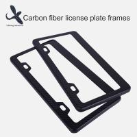 China Custom Designs Hot Selling USA Canada Style two holes Carbon Fiber License  Plate Frame Wholesale on sale