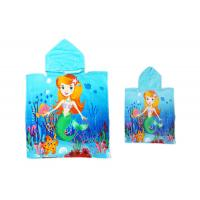 China Promotional Sea - Maid Pattern Hooded Beach Towels For Kids Christmas Gift on sale